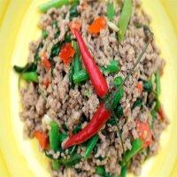 1163 - Khow Phad Kra Pao Moo Saab