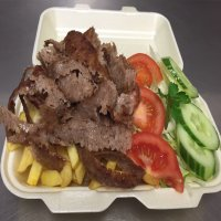 37. Doner Meat, Chips & Salad