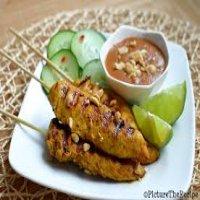 Chicken Satay Skewers with Satay Dip