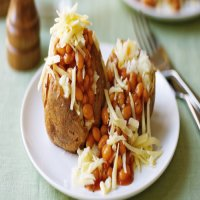 113. Jacket Potato with Baked Beans