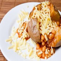 73. Jacket Potatoes with cheese & beans