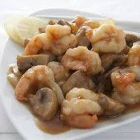 94. King Prawn with Mushrooms