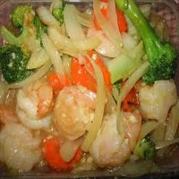 96. King Prawn with mixed Vegetables