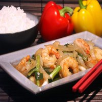 99. King Prawn with Ginger & Spring Onions