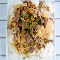 154. Roast Pork with water Chestnuts & Bamboo Shoots