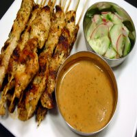 10. Chicken Skewer in Satay Sauce ( 6 )
