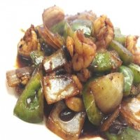 67. King Prawn with Green Pepper in Black Bean Sauce