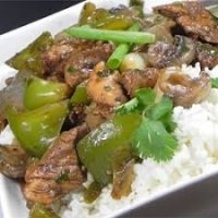 85. Chicken with Green Peppers in Black Bean Sauce