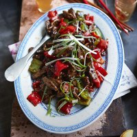 113. Beef with Oyster sauce