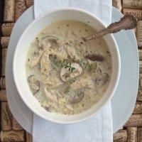 36. Chicken & White Mushroom Soup