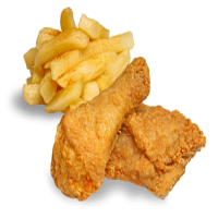 92. 2 Pieces of Fried Chicken & Chips